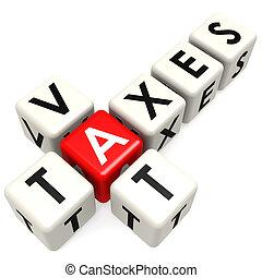 buzzword, cuve, impôts