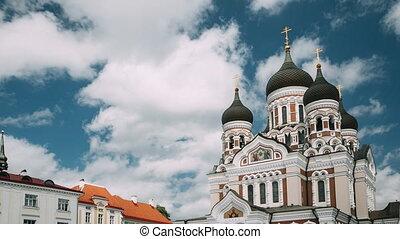 célèbre, site., unesco, alexandre, mondiale, repère, destination, estonia., orthodoxe, populaire, cathedral., héritage, scenic., tallinn, nevsky