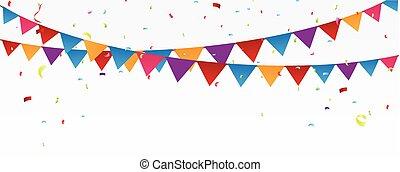 célébration, bannière, anniversaire