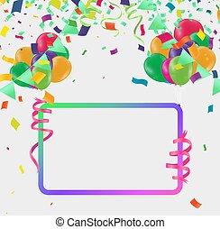 célébration, confetti