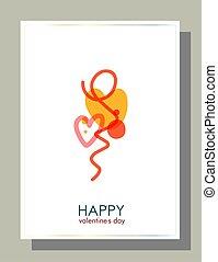 célébration, design., fond, bannière, amour, beau, résumé, vecteur, concept, finance, symbole., arrière-plan.