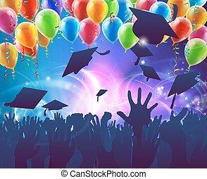 célébration, partie graduation