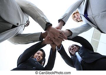 célébrer, divers, equipe affaires