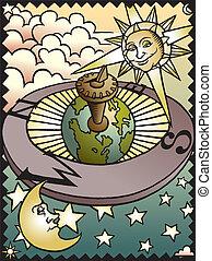 céleste, cadran solaire