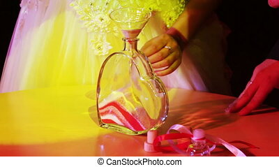 cérémonie, sable, mariage