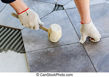 céramique, pose, tiles.