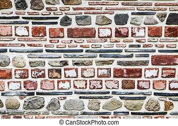 céramique, vendange, tuiles, mur