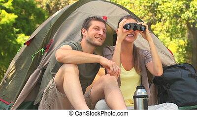 côté, pays, camper couples