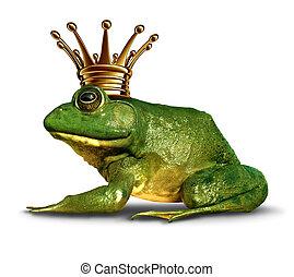 côté, prince, grenouille, vue