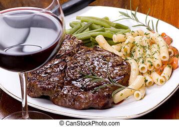 côte, dîner, bifteck, oeil, 5