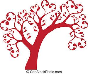 cœurs, arbre
