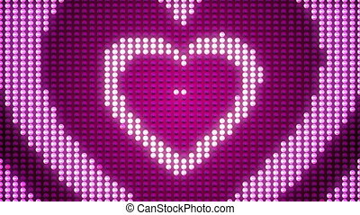 cœurs, augmenter, amour, pulsing