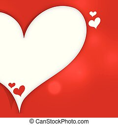 cœurs, bannière, texte, fond, espace