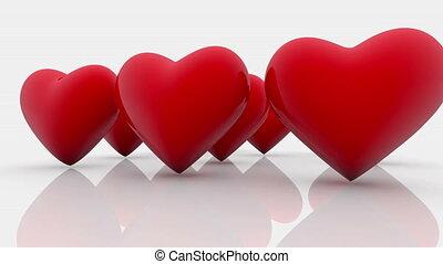 cœurs, blanc rouge, résumé