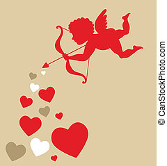 cœurs, cupidon