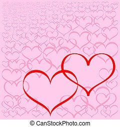 cœurs, fond, résumé