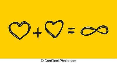 cœurs, toujours, amour, deux