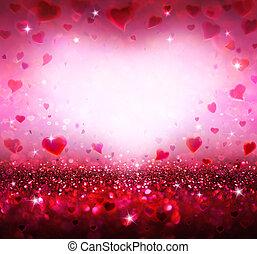 cœurs, valentines, fond