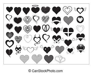 cœurs, vectors