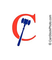 c, marteau, logo
