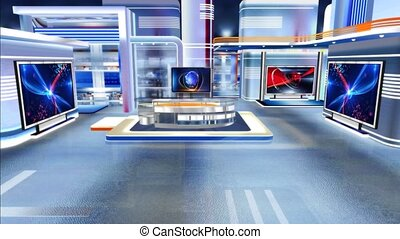 c1, virtuel, newsroom, studio