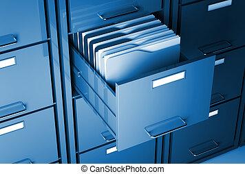 cabinet, dossier, fichier