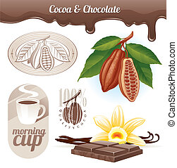 cacao, haricots, chocolat