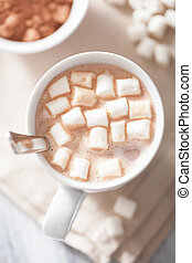 cacao, mini, guimauves