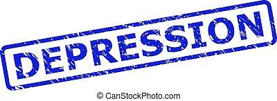 cachet, rectangle, style, timbre, arrondi, gratté, cadre, dépression