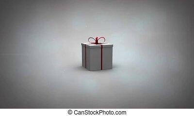cadeau, illustration, vidéo, révéler