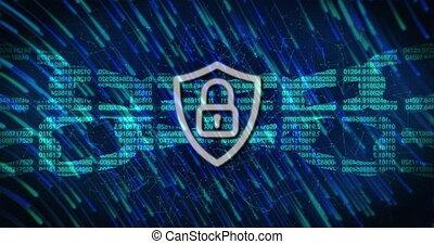 cadenas, lumière, sécurité, chaîne, icône, contre, pistes