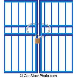 cadenas, portail