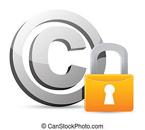 cadenas, protection, droit d'auteur