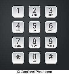 cadran, sécurité, clavier, téléphone, numérique, plaque, serrure, ou