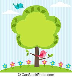 cadre, arbre