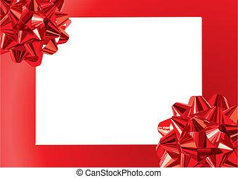 cadre, arcs, cadeau, (vector)