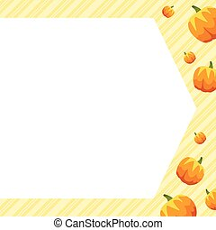 cadre, citrouille, style, collection, thanksgiving