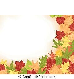 cadre, colorfull, feuilles, automne