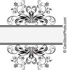cadre, conception décorative, retro