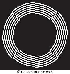 cadre, conception, spirale, illusion