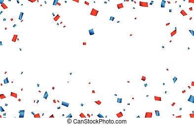 cadre, confetti, banner., célébration