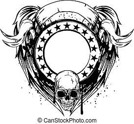 cadre, crâne