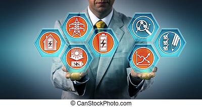 cadre, efficacité, énergie, evaluer, stockage