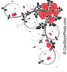 cadre, fleur