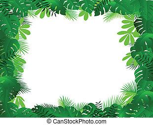 cadre, forêt