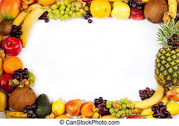 cadre, fruits