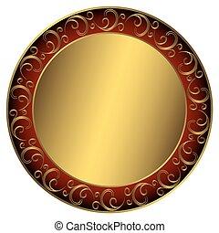 cadre, golden-red-black