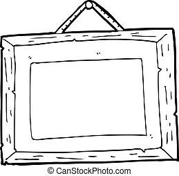 cadre graphique, dessin animé