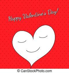 cadre, rouges, jour, patern, valentin