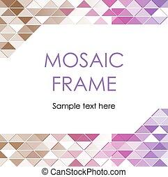 cadre, triangulaire, mosaïque